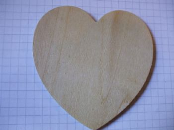 Birch Ply Wooden Standard Heart Wood Craft Shape
